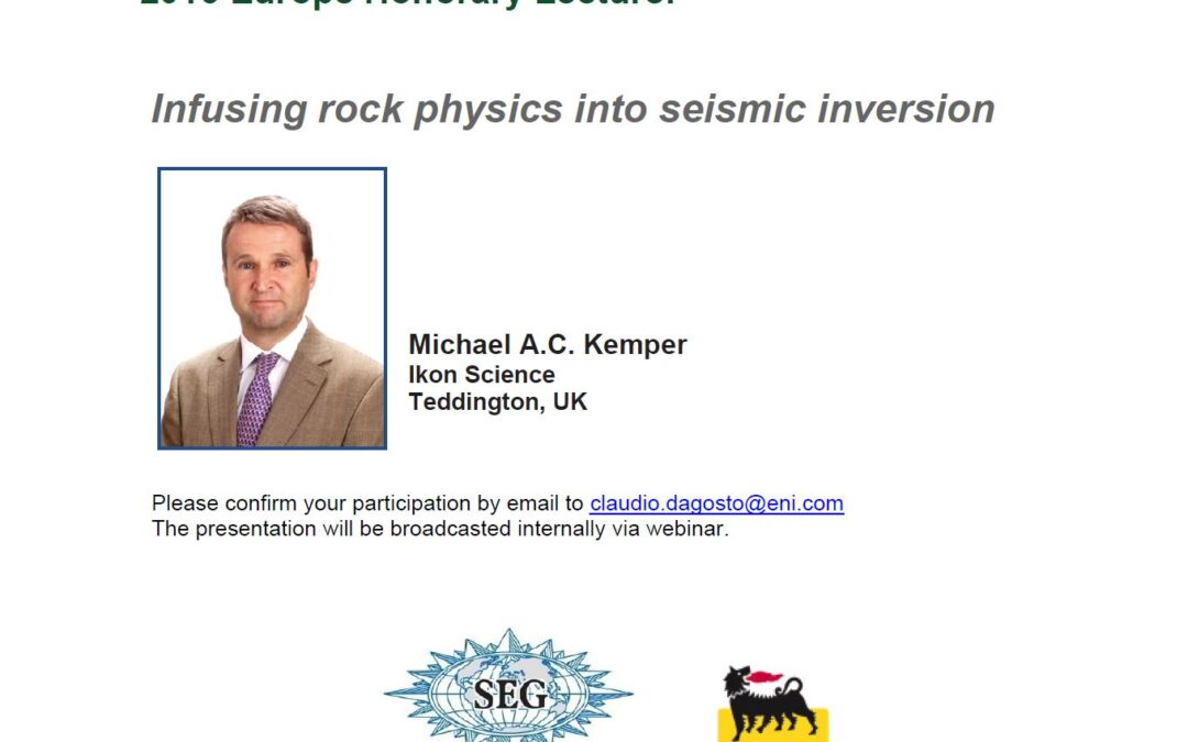 Infusing rock physics into seismic inversion By Michael A.C. Kemper