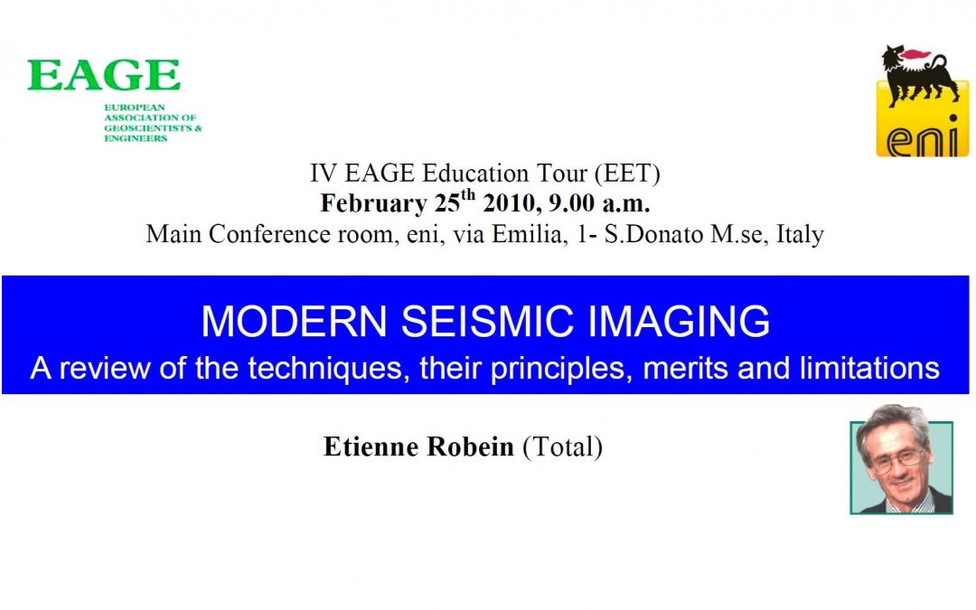 EET 2010 Modern Seismic Imaging: a review of the techniques, their principles, merits and limitations