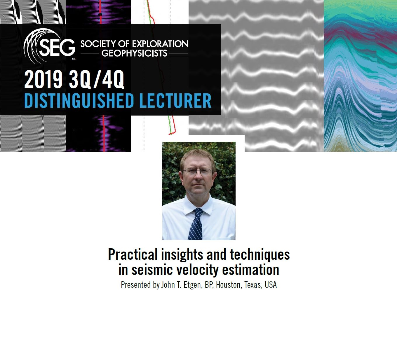 2019 SEG Distinguished Lecture Milan – 9th October