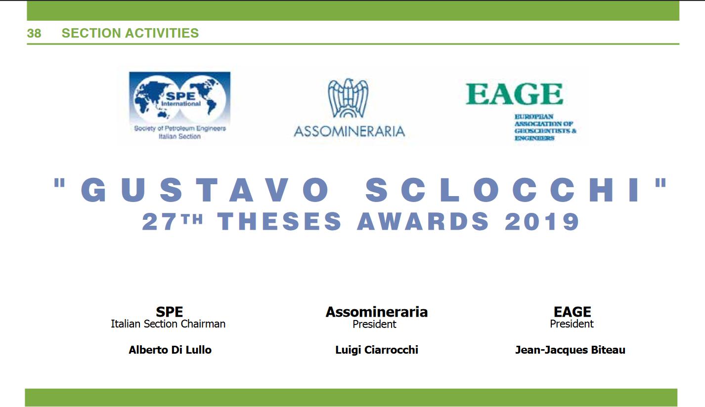 Premio Sclocchi 2019