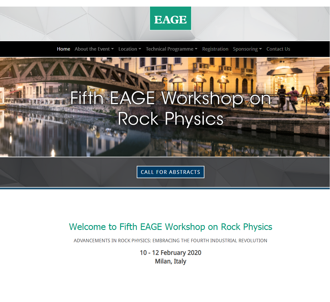 Call for abstracts: 5th EAGE Workshop on Rock Physics
