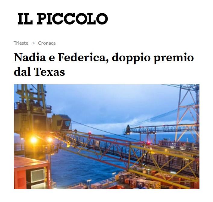 Nadia e Federica, doppio premio dal Texas (dal Piccolo di Trieste)