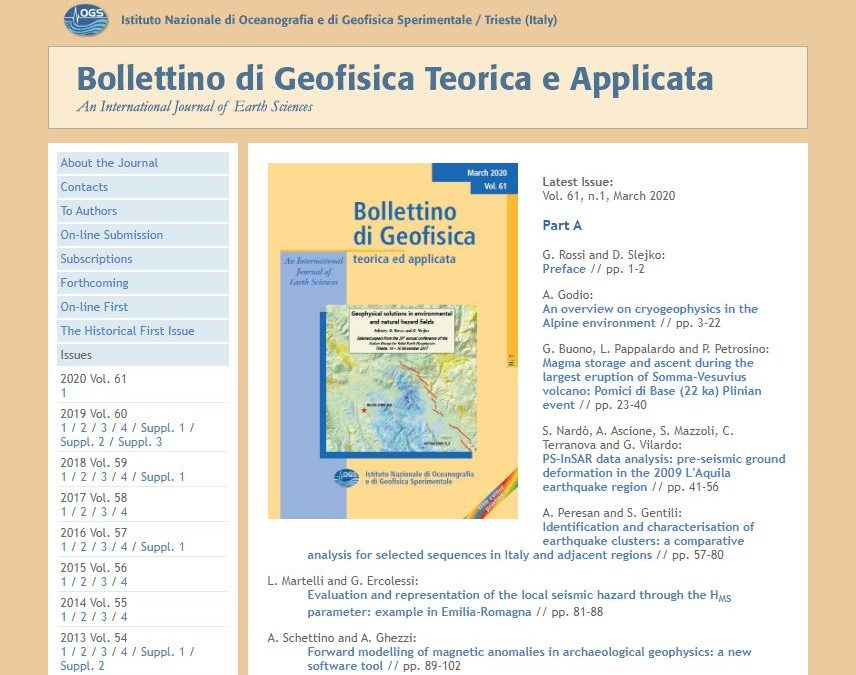 Bollettino di Geofisica Teorica e Applicata
