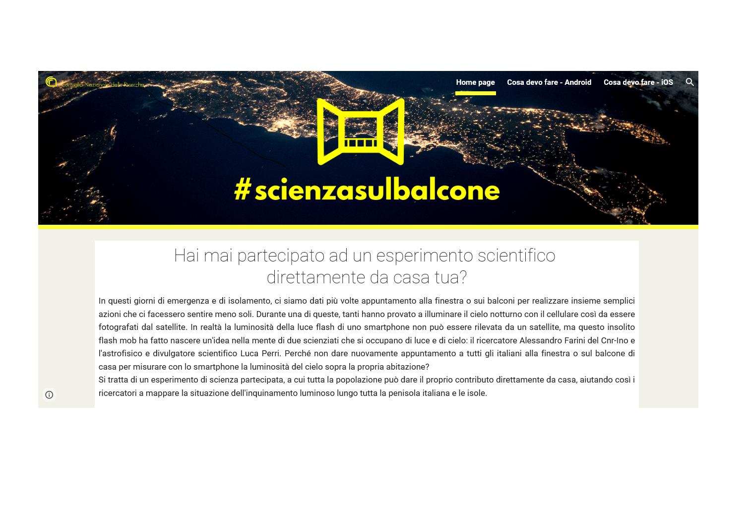 Scienza sul Balcone