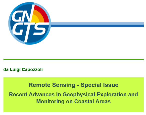 Remote Sensing – Special Issue Recent Advances in Geophysical Exploration and Monitoring on Coastal Areas