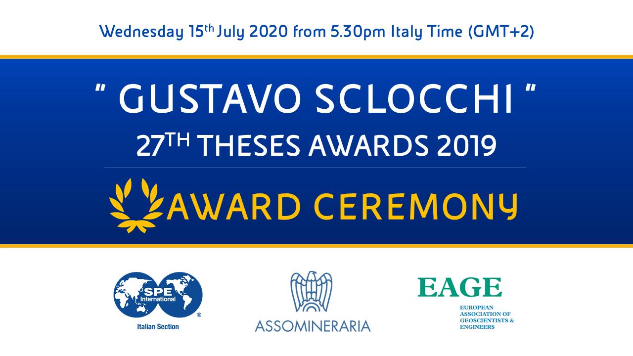 2019 Sclocchi Award: Awards Ceremony
