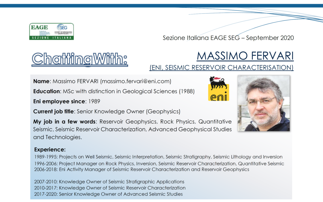 ChattingWith Eni Seismic Reservoir Characterisation Team – Massimo Fervari