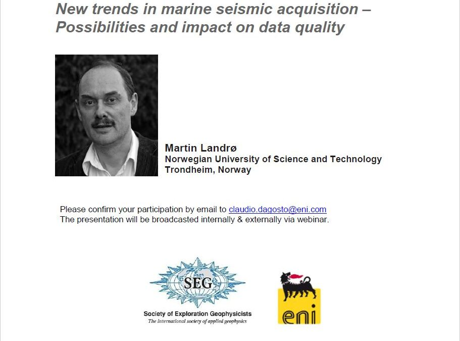 New trends in marine seismic acquisition – Possibilities and impact on data quality By Martin Landrø
