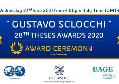 "28th ""GUSTAVO SCLOCCHI AWARD"" CEREMONY"